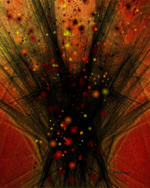 Cookout Digital Art - Fractal Bonfire by Diane Parnell