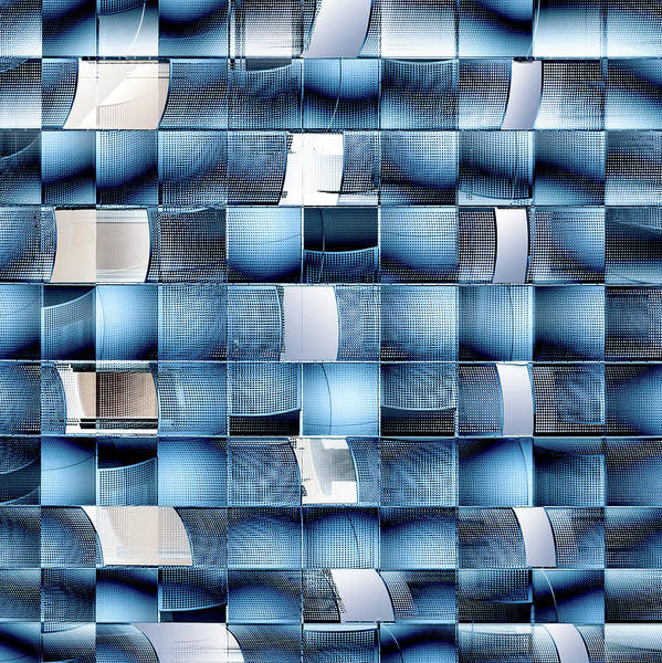 Grid Photograph - Fractal Chaos. by Harry Verschelden