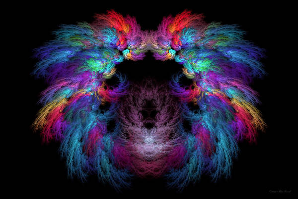 Digital Art - Fractal - Christ - Angels Wings by Mike Savad