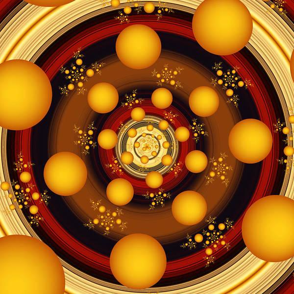 Saffron Digital Art - Fractal Energy by Gabiw Art