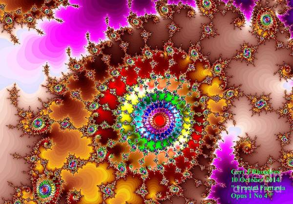 Special Offer Painting - Fractal Fantasia Opus 1 No 4. H A by Gert J Rheeders