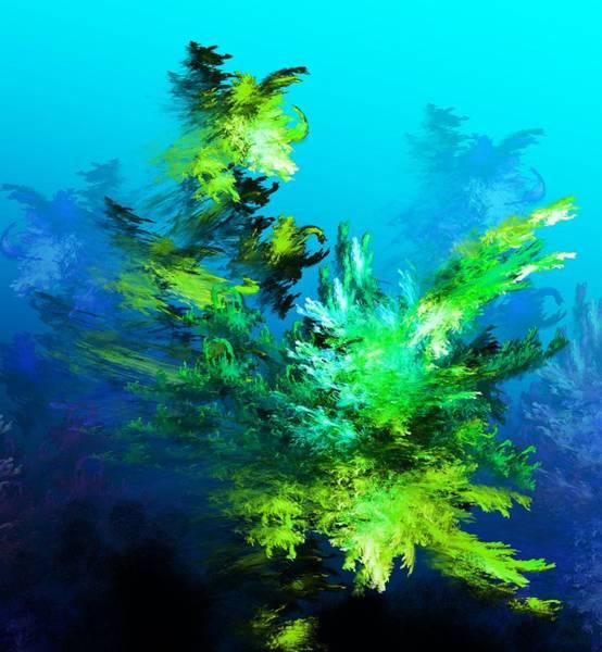 Wall Art - Digital Art - Fractal Forest by David Lane