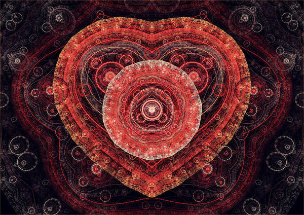Passionate Digital Art - Fractal Heart by Martin Capek