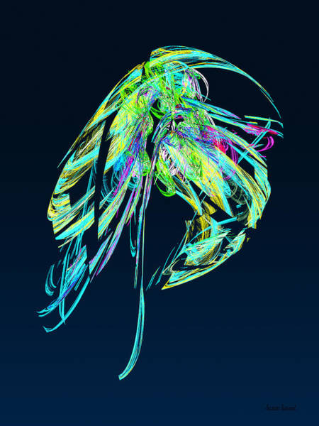 Photograph - Fractal - Jellyfish by Susan Savad