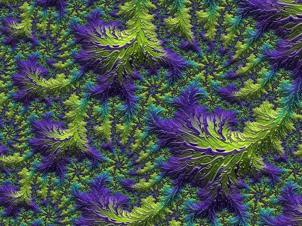 Digital Art - Fractal Jewels Series - Rain Forest Canopy by Susan Maxwell Schmidt