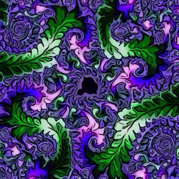 Digital Art - Fractal Leaves by Karen Buford