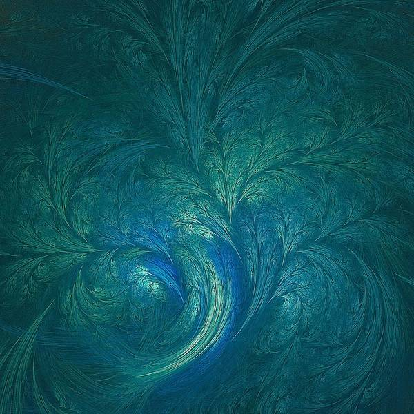 Whirlwind Digital Art - Fractal Marine Blue by Doug Morgan