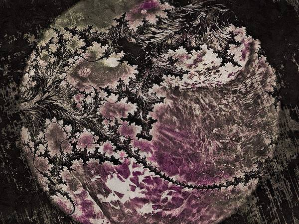 Digital Art - Fractal Moon by Susan Maxwell Schmidt