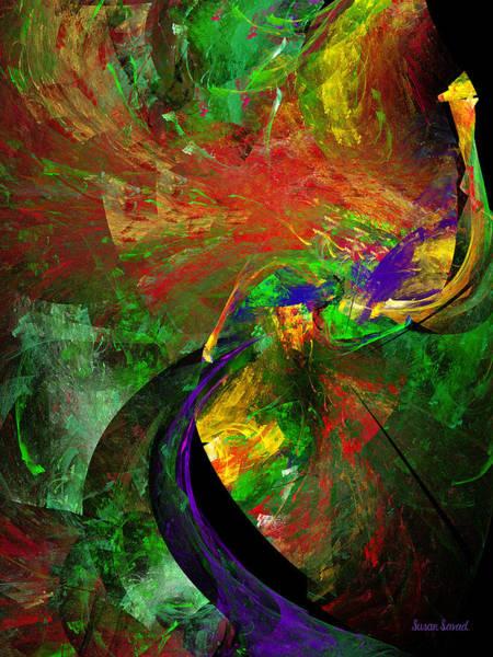 Digital Art - Fractal - Peacock by Susan Savad