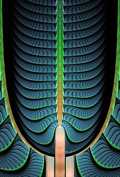 Digital Art - Fractal Pine Tree by Anastasiya Malakhova