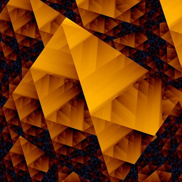 Elation Digital Art - Fractal Pyramid by Kenneth Keller