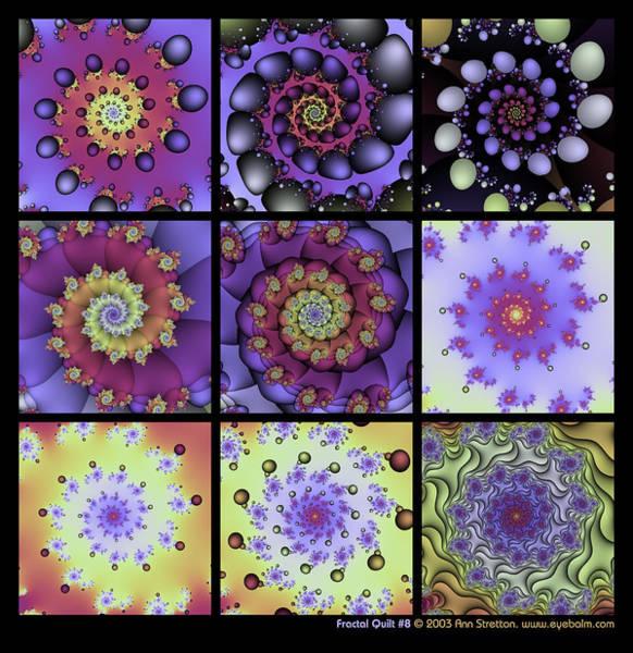 Fractal Quilt 8  Art Print