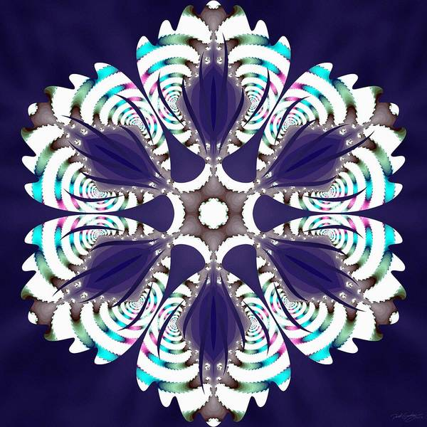 Digital Art - Fractal Snowcaps by Derek Gedney