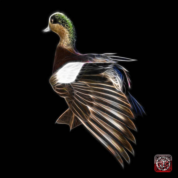Mixed Media - Fractal Wigeon 7702 - Bb by James Ahn