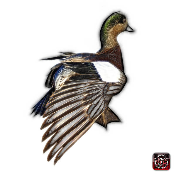 Mixed Media - Fractal Wigeon 7702 - Wb by James Ahn