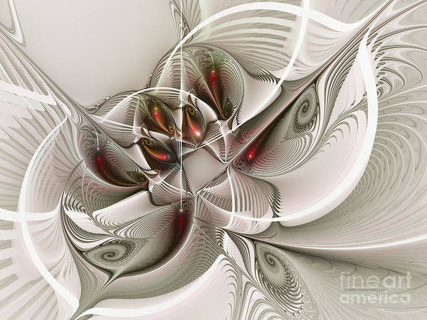 Digital Art - Fractal With Interior View by Karin Kuhlmann
