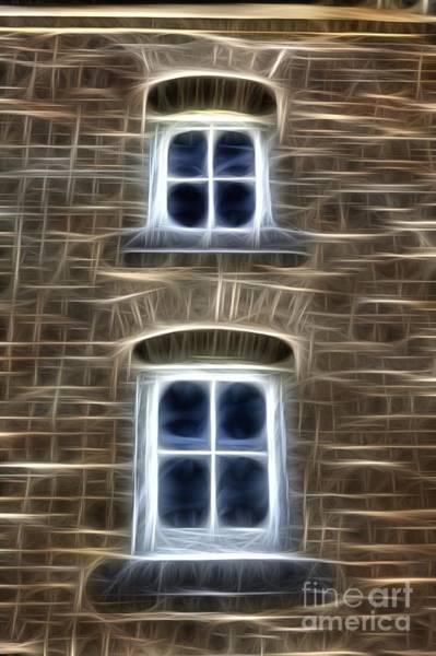 Photograph - Fractalius Double Windows by Jim Lepard