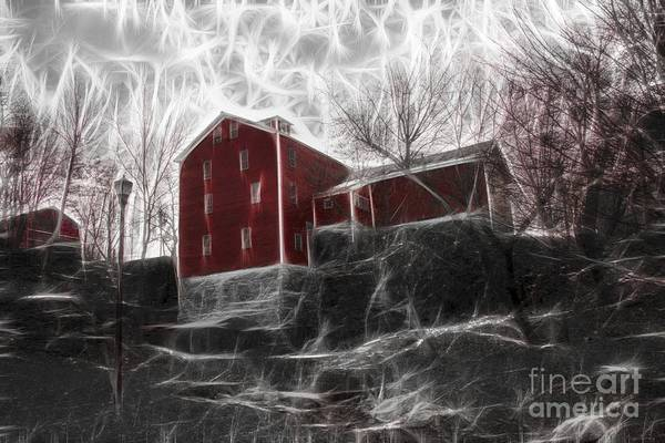 Photograph - Fractalius Old Red Mill by Jim Lepard