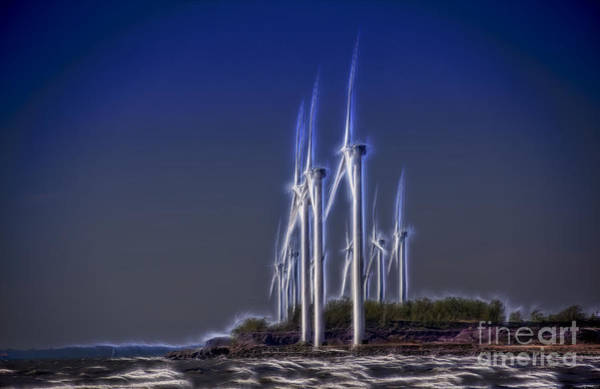 Photograph - Fractalius Windmills by Jim Lepard