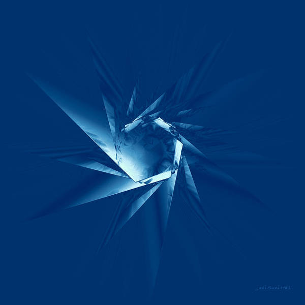 Digital Art - Fractured Ice by Judi Suni Hall