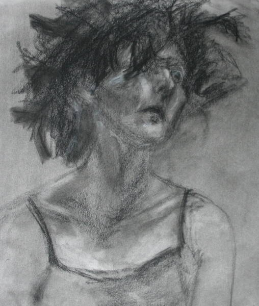 Drawing - Gathering Strength - Original Charcoal Drawing - Contemporary Impressionist Art by Quin Sweetman
