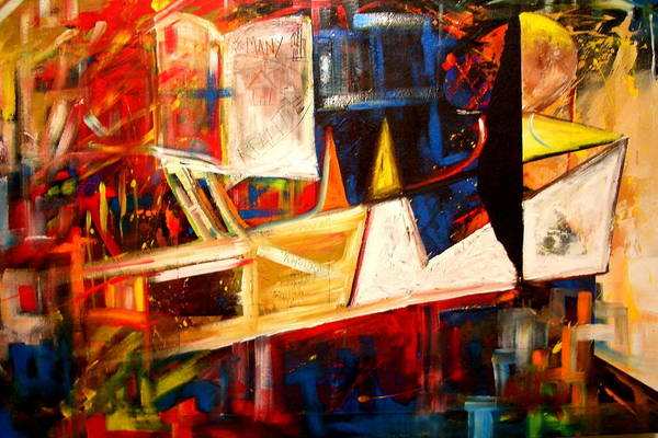 Painting - Fragmented Emancipation by Laurend Doumba