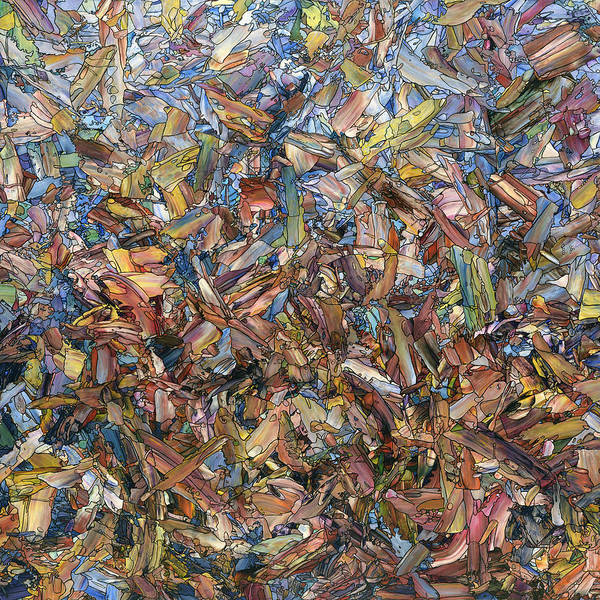 Painting - Fragmented Fall - Square by James W Johnson