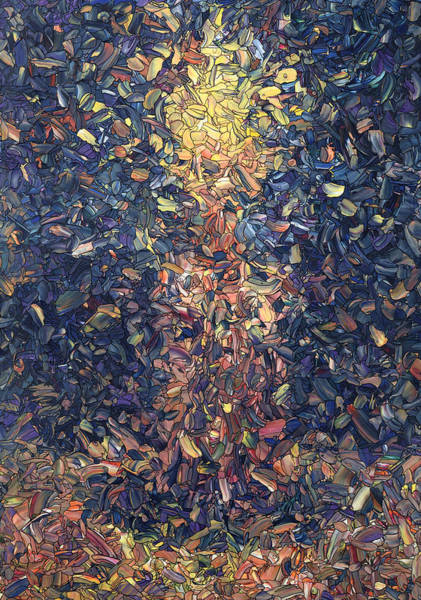 Stained Glass Wall Art - Painting - Fragmented Flame by James W Johnson