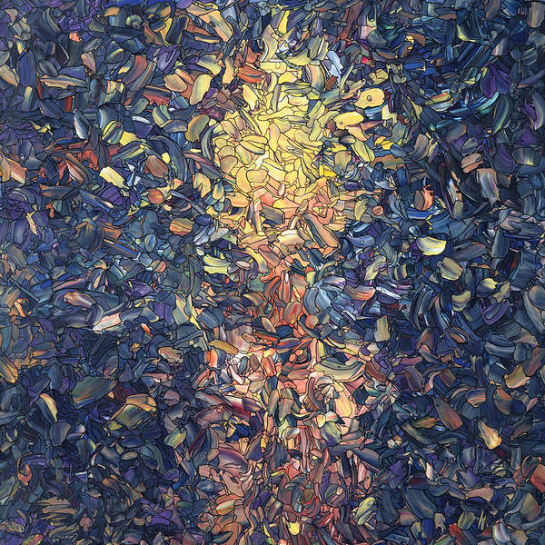 Wall Art - Painting - Fragmented Flame - Square by James W Johnson