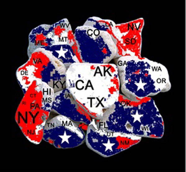 Us Civil War Digital Art - Fragmented States Of The Union by Bruce Iorio