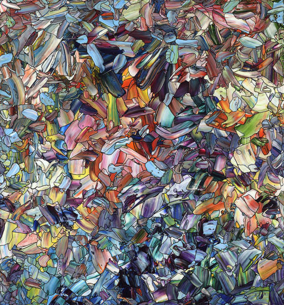 Palette Painting - Fragmenting Heart by James W Johnson