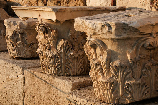 Art And Craft Photograph - Fragments Of Antique Columns At Roman by Krzysztof Dydynski