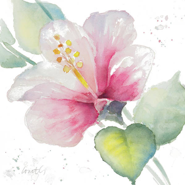 Hibiscus Painting - Fragrant Hibiscus II by Lanie Loreth