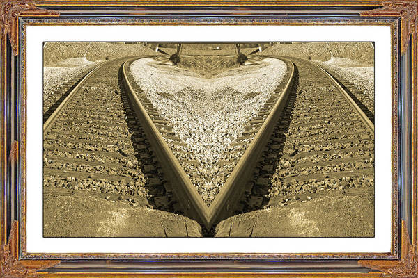 Railroad Tie Wall Art - Mixed Media - Framed Heart by Betsy Knapp
