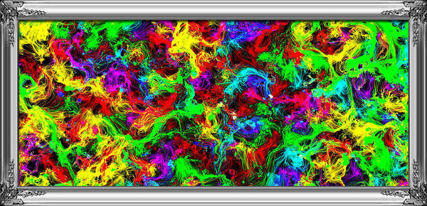Spawn Painting - Framed Spawned Colors by Bruce Nutting
