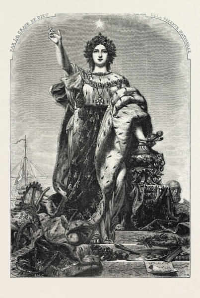 Allegorical Figure Drawing - France, Allegorical Figure by French School
