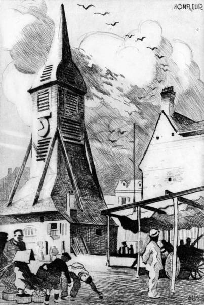 Wall Art - Painting - France Bell Tower, C1925 by Granger