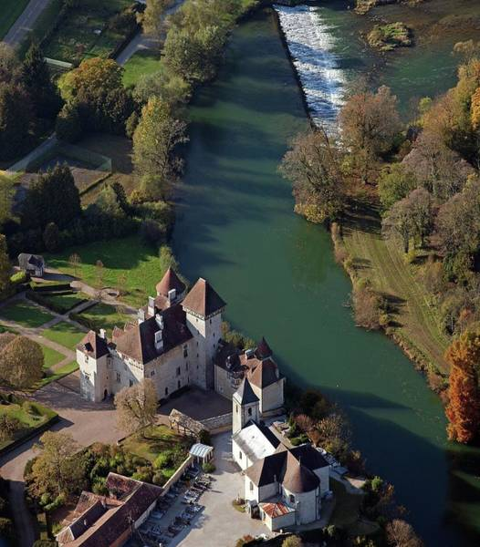 Comte Wall Art - Photograph - France, Doubs, Loue Valley Aerial View by Gérard Labriet
