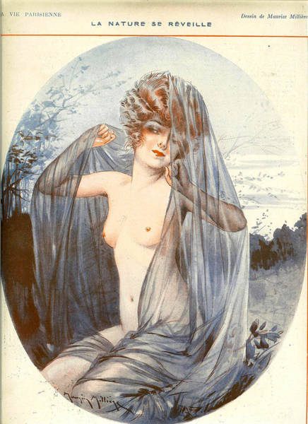 Wall Art - Photograph - France La Vie Parisienne Magazine Plate by The Advertising Archives