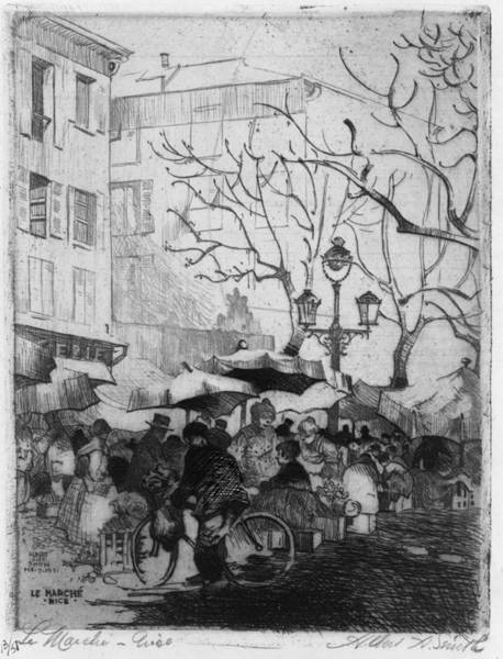 Wall Art - Painting - France Marketplace, 1921 by Granger