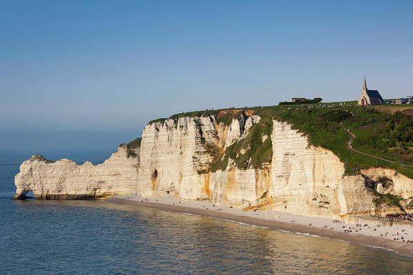 Alabaster Photograph - France, Normandy, Etretat, Falaise De by Walter Bibikow
