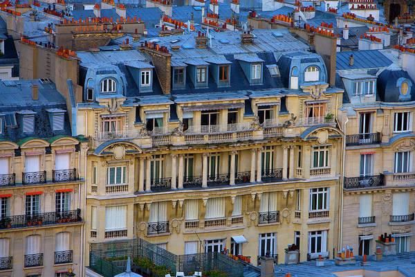 Paris Rooftop Photograph - France, Paris Aerial View Of Buildings by Jaynes Gallery