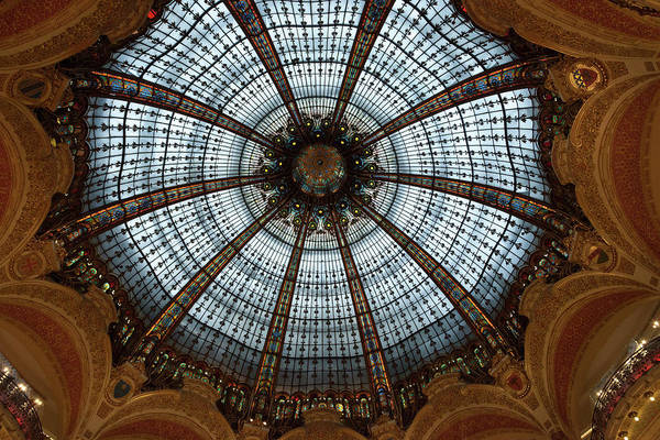 Galeries Lafayette Photograph - France, Paris Ceiling Of Galleries by Jaynes Gallery