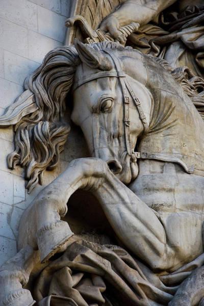 Arc Wall Art - Photograph - France, Paris Horse Head Detail by Jaynes Gallery