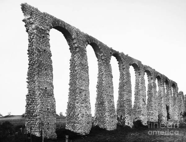 Photograph - France: Roman Aqueduct by Granger