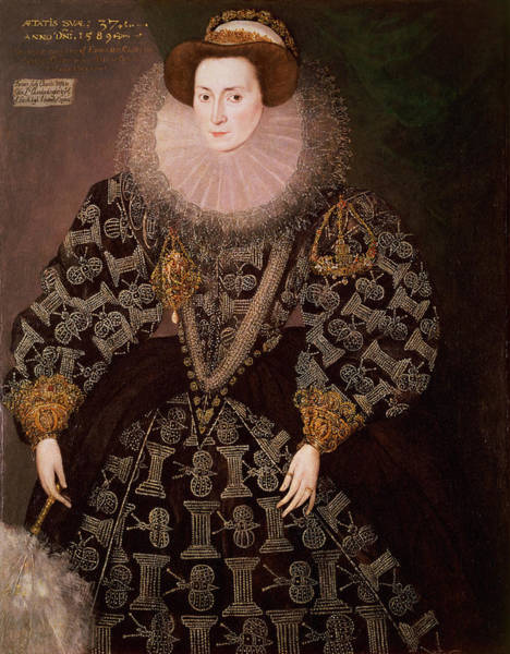 Elizabethan Wall Art - Photograph - Frances Clinton, Lady Chandos 1552-1623, 1589 Oil On Canvas Transferred From Panel by Hieronymus Custodis