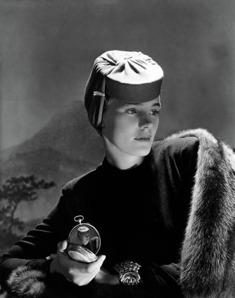 Photograph - Frances Farmer Wearing An Agnes Hat by Horst P. Horst
