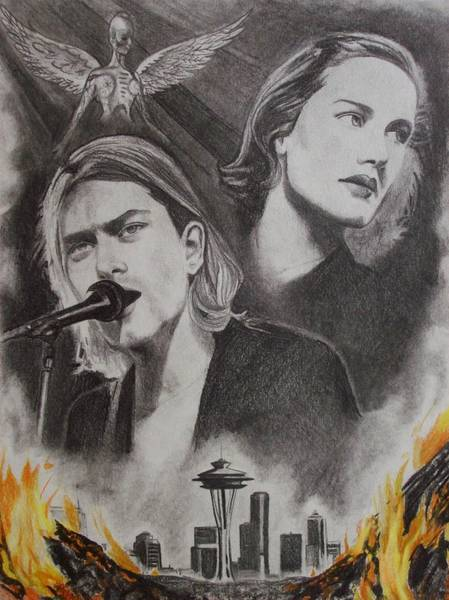 Amber Drawing - Frances Farmer Will Have Her Revenge On Seattle by Amber Stanford