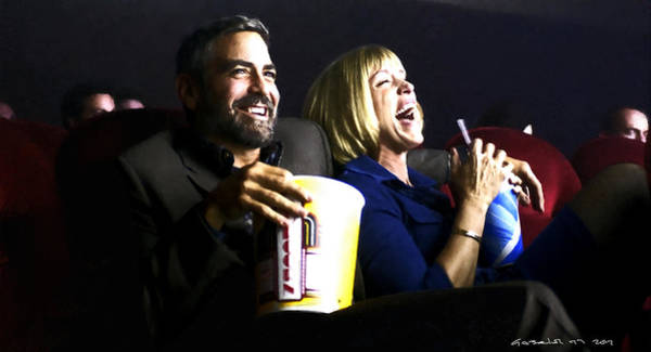Digital Art - Frances Mcdormand And George Clooney @ Burn After Reading by Gabriel T Toro