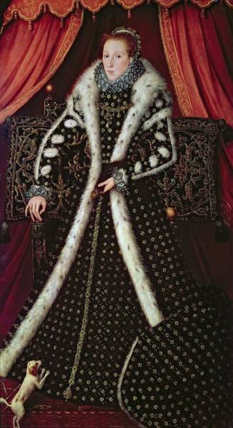 Spaniel Photograph - Frances Sidney, Countess Of Sussex, C.1565 Panel by or Muelen, Steven van der Meulen